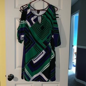 Multi-color Bebe Dress - Size L